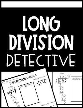 Long Division Activity: Division Mathematicians