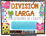 Long Division Animals SPANISH PowerPoint Game