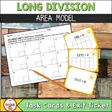 Long Division Area Model -Task Cards
