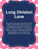 Long Division Activity and reference bookmarks