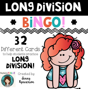 Long Division BINGO! *32 Different Cards*