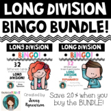 Long Division BINGO Bundle! Two 32 Card Sets - One with Remainders, One Without!