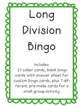 Long Division Bingo