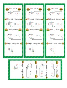 Long Division Bookmarks