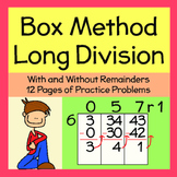 Long Division-Box Method