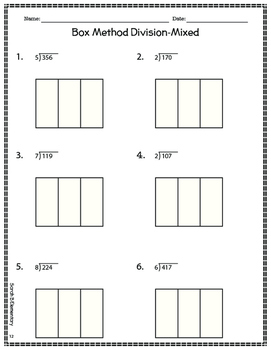 Long Division-Box Method by Sarah B Elementary | TpT