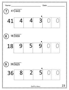 Long Division: Box Method- Double Digit Divisor Version