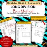 Long Division: Horizontal Box Method- Double Digit Divisor