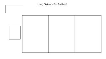 Long Division Box Method Graphic Organizers