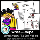 Long Division: Box Method Task Cards- NO remainders