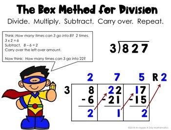 long division box method task cards with remainders tpt. Black Bedroom Furniture Sets. Home Design Ideas