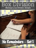 Long Division- Box Method with No Remainders- Set 1