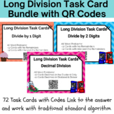 Long Division Bundle -72 Real World Task Cards With QR Cod