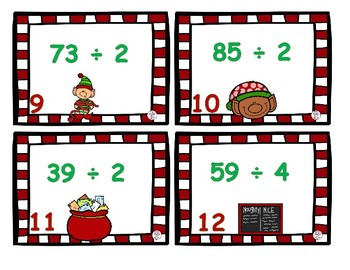 Long Division Center- Holiday Themed