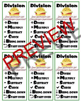 Long Division Checklist