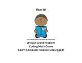 Long Division Coding Math Game Aligned Computer Science Unplugged