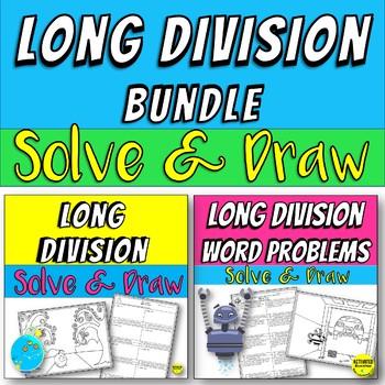 Long Division Color By Answer Bundle