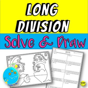 Long Division Color By Answer Practice