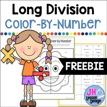 Long Division: Color-By-Number FREEBIE