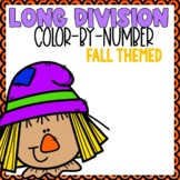 Long Division Color-By-Number Fall Themed