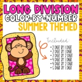 Long Division Color-By-Number Summer Themed