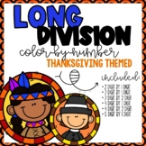 Long Division Color-By-Number Thanksgiving Themed