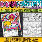 Summer Color by Number Long Division | Summer Division