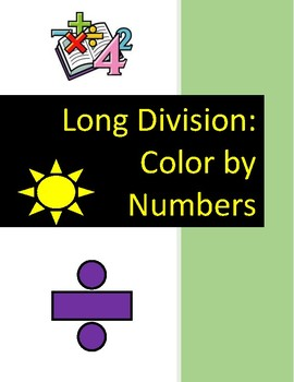 Long Division Color by Numbers
