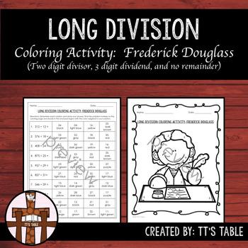 Long Division Coloring Activity Frederick Douglass