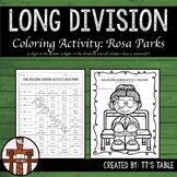 Long Division Coloring Activity: Rosa Parks
