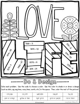 Long Division Color by Number   Long Division Activities   Do and Design