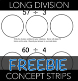 Long Division Concept Practice Strips