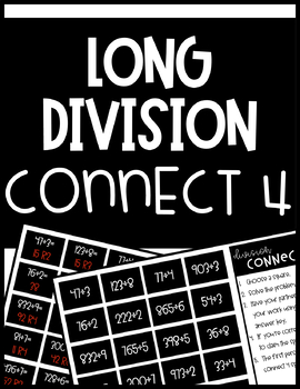 Long Division Activity: Connect 4