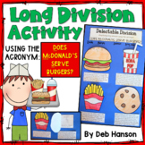 "Long Division Craftivity (using the acronym ""Does McDonald's Serve Burgers?"")"