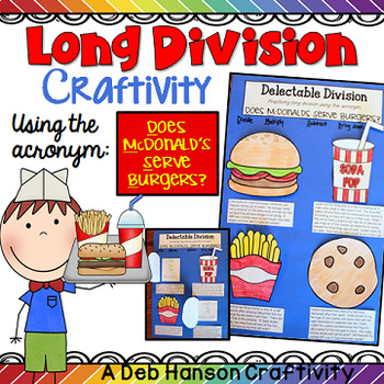 """Long Division Craftivity (using the acronym """"Does McDonald's Serve Burgers?"""")"""