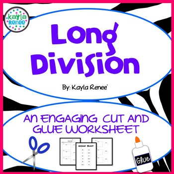 Long Division Cut and Glue
