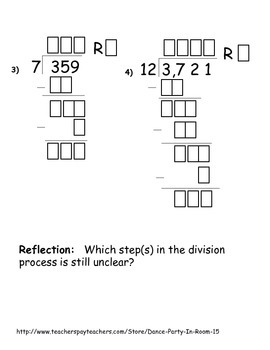 Long Division Cut and Paste Activity