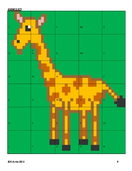 Long Division Cut and Paste - Giraffe