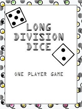 Long Division Dice