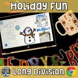 Long Division Digital Activity - GOOGLE  Self Checking Hol