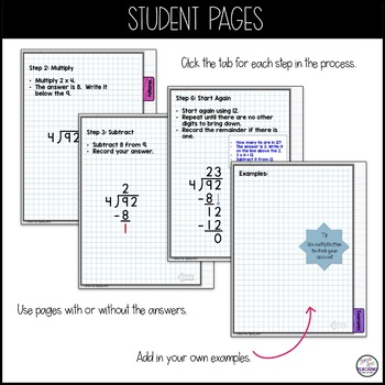 Long Division Digital Interactive Flip Book