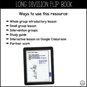 Long Division Digital Interactive Flip Book