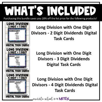 Long Division Digital Task Cards/Google Slides