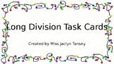 Long Division Digital Task Cards w Answer Key