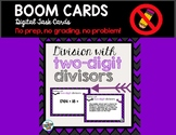 Long Division - Dividing with a Two-Digit Divisor Boom Cards Digital Boom Cards