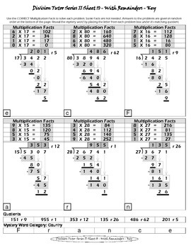 Long Division (Division Tutor Series II - SET 2 Grayscale)