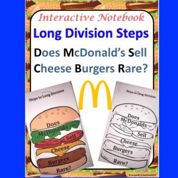 Long Division Does McDonalds Sell Cheese Burgers Rare Interactive Notebook