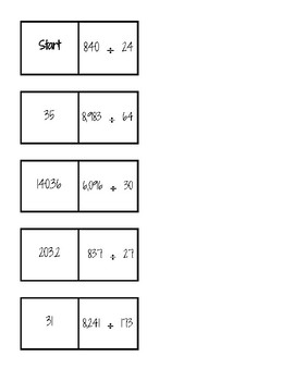 Long Division Dominoes