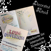 Long Division - Decorated Notes Brochure for Interactive Notebooks