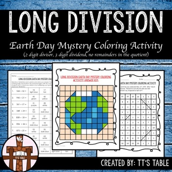 Long Division Earth Day Mystery Coloring Activity (1)